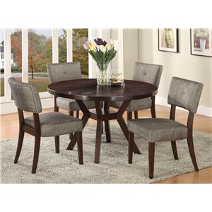 Acme Furniture Drake Espresso 5 Piece Dining Set
