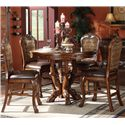 Acme Furniture Dresden Round Counter Height Table - Shown with Side Chairs