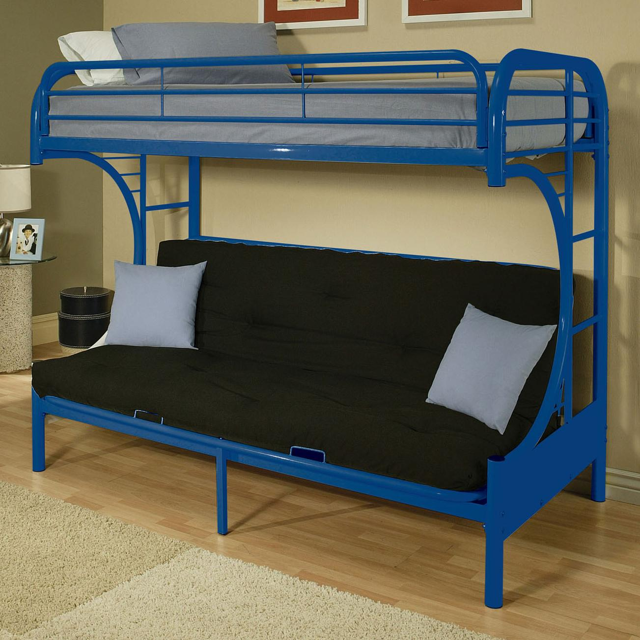 Acme Furniture Eclipse Twin/Full Bunk Bed - Item Number: 02091NV NAVY