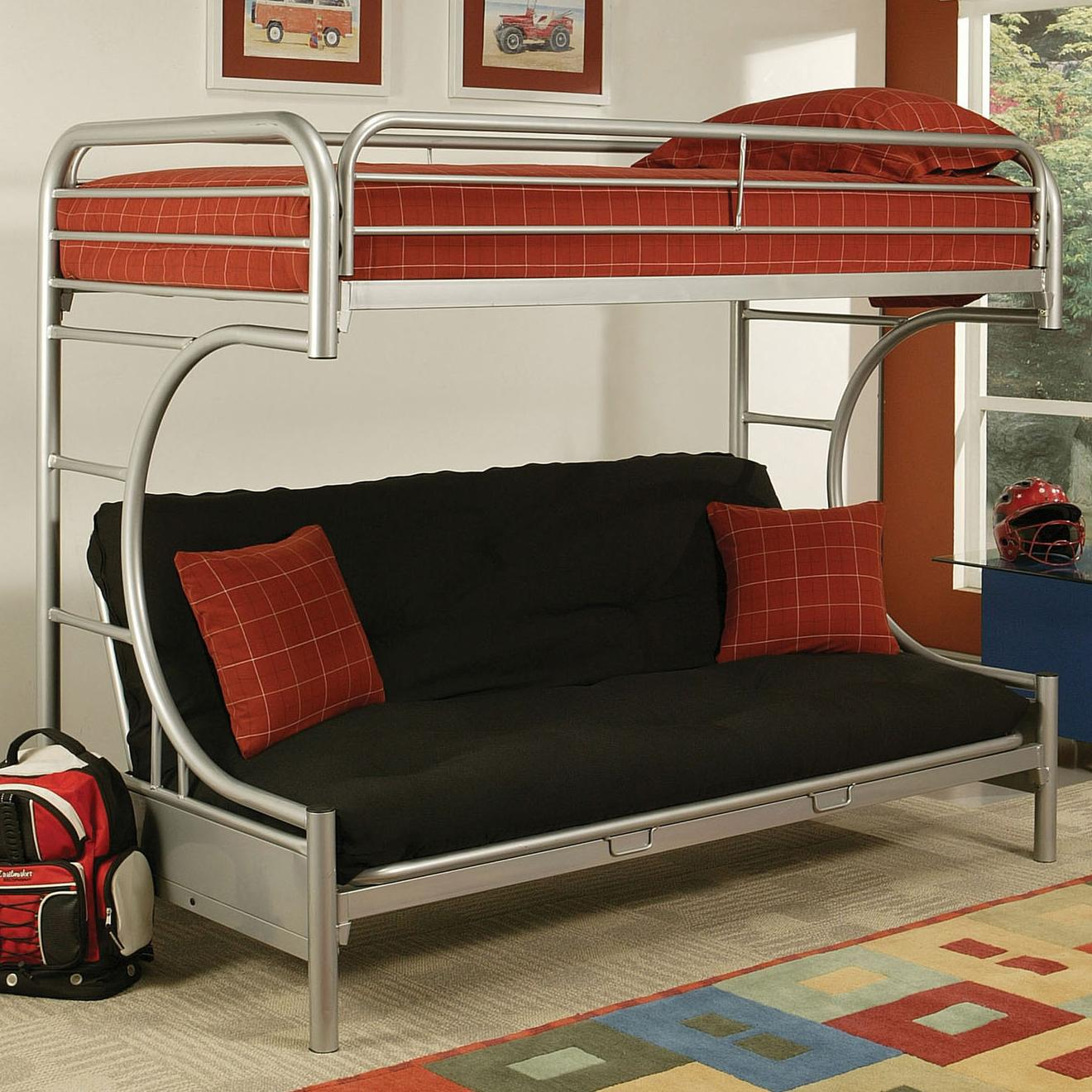 Acme Furniture Eclipse Twin/Full Bunk Bed - Item Number: 02091NV SILVER