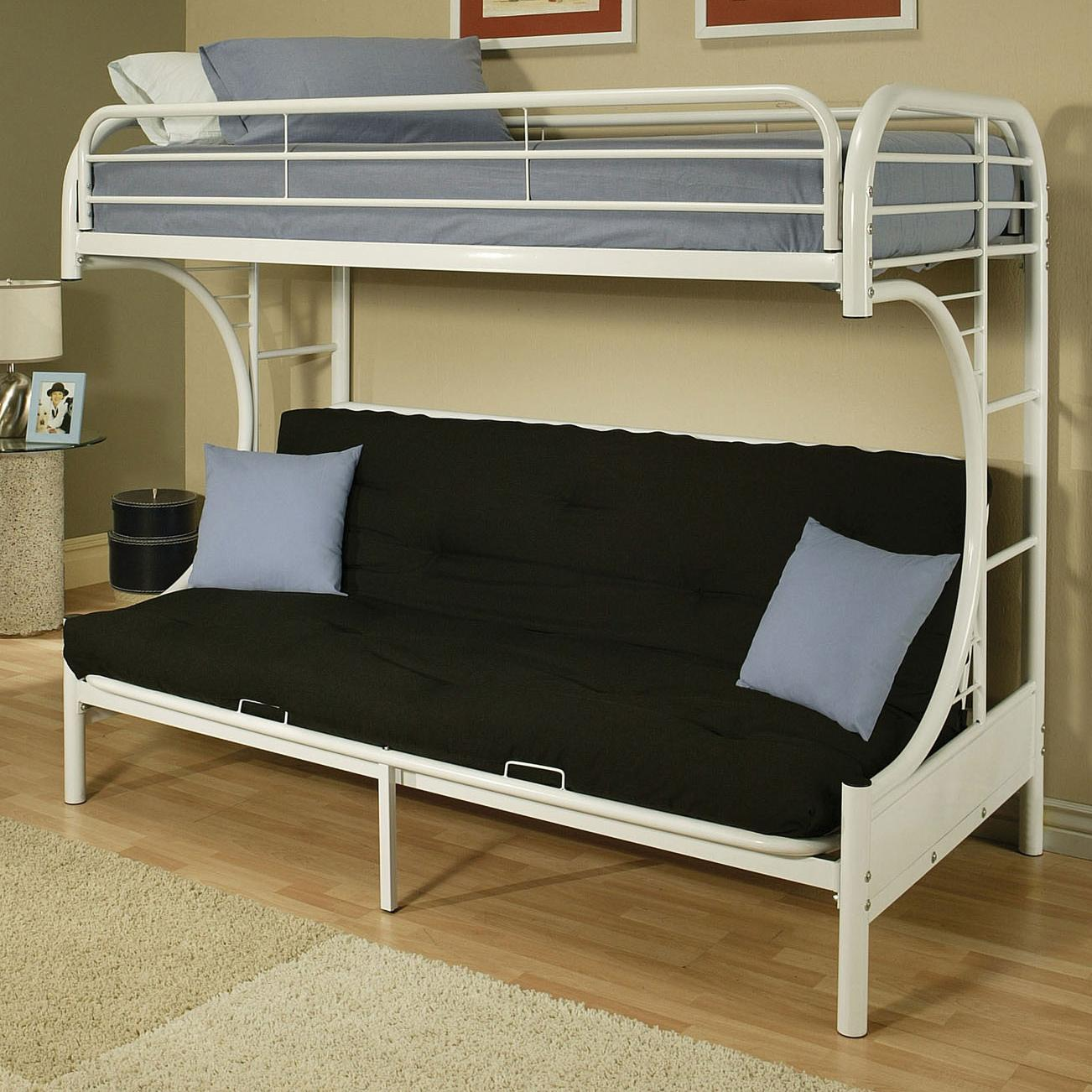Acme Furniture Eclipse Twin/Full Bunk Bed - Item Number: 02091NV WHITE