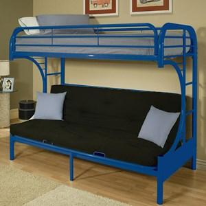 acme furniture eclipse twin xlqueen futon bunk bed