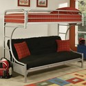 Acme Furniture Eclipse Twin XL/Queen Futon Bunk Bed - Item Number: 02093SI
