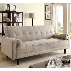 Acme Furniture Edana Sand Linen Adjustable Sofa
