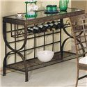 Acme Furniture Egyptian Rectangular Glass Top Server with Wine Storage