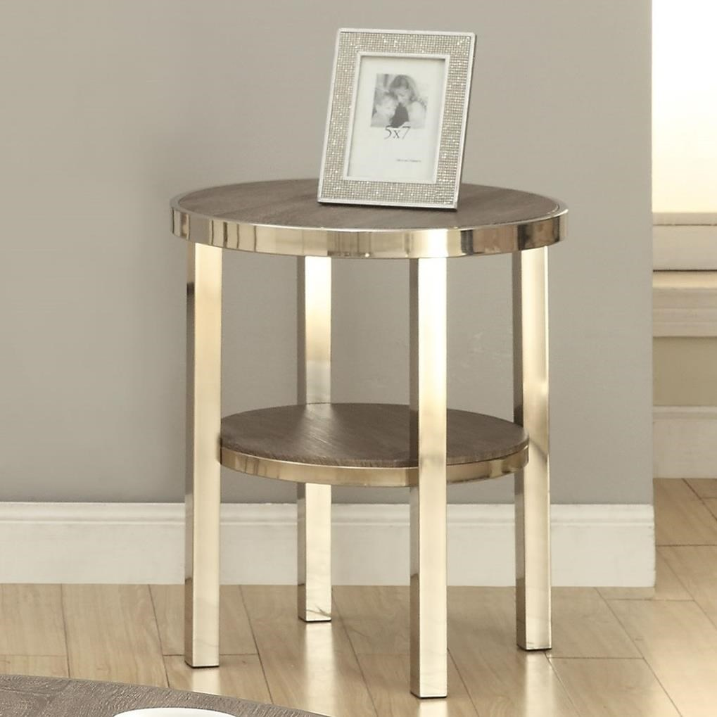 Acme Furniture Elwyn Contemporary End Table With Metal Legs A1 Furniture Mattress End Tables