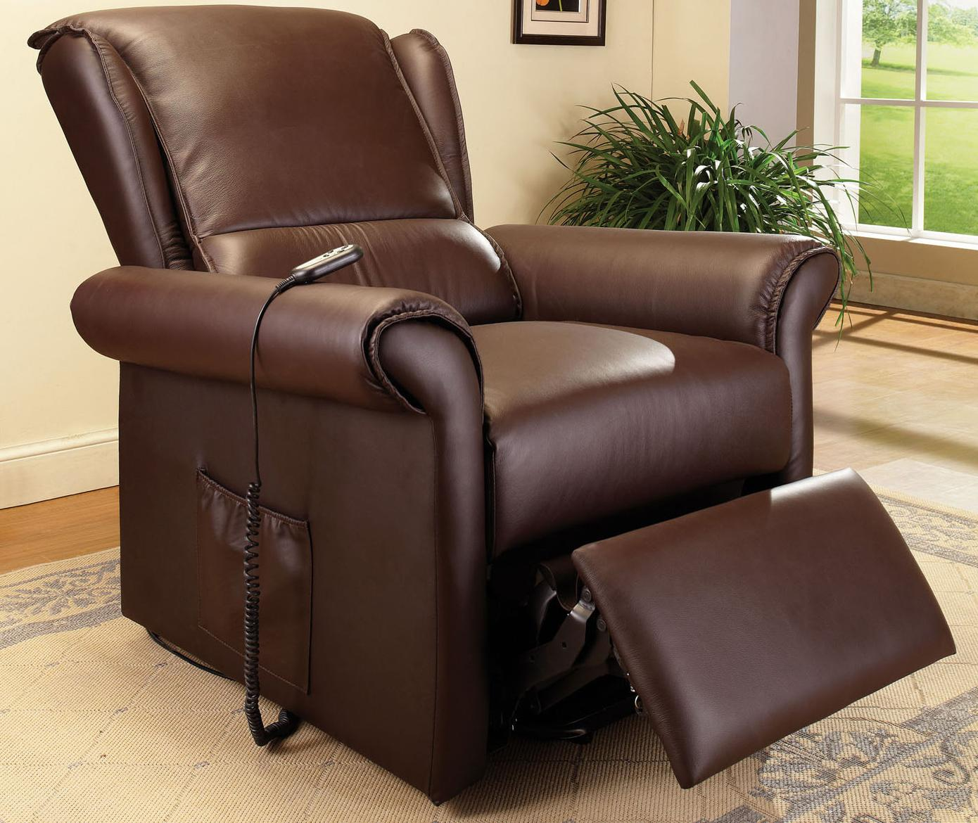Acme Furniture Emari Dark Br Pu Electric Lift Recliner Seat - Item Number: 59169