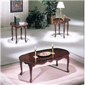 Acme Furniture Essex Cherry 3-Piece C/E Table Set - Item Number: 02402
