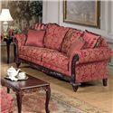 Acme Furniture Fairfax Magenta Traditional Sofa - Item Number: 50330