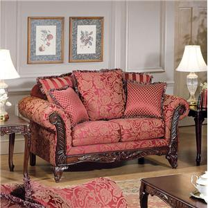 Acme Furniture Fairfax Magenta Traditional Loveseat