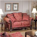 Acme Furniture Fairfax Magenta Traditional Loveseat - Item Number: 50331