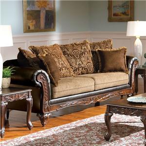 Acme Furniture Fairfax Splurge Traditional Sofa