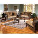 Acme Furniture Fairfax Splurge Traditional Stationary Sofa