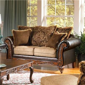 Acme Furniture Fairfax Splurge Traditional Loveseat
