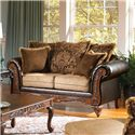Acme Furniture Fairfax Splurge Traditional Loveseat - Item Number: 50341