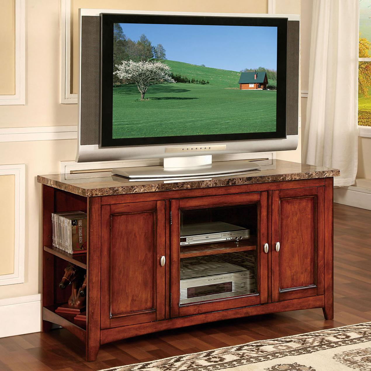 Acme Furniture Finely 91000 TV Stand With Faux Marble Top