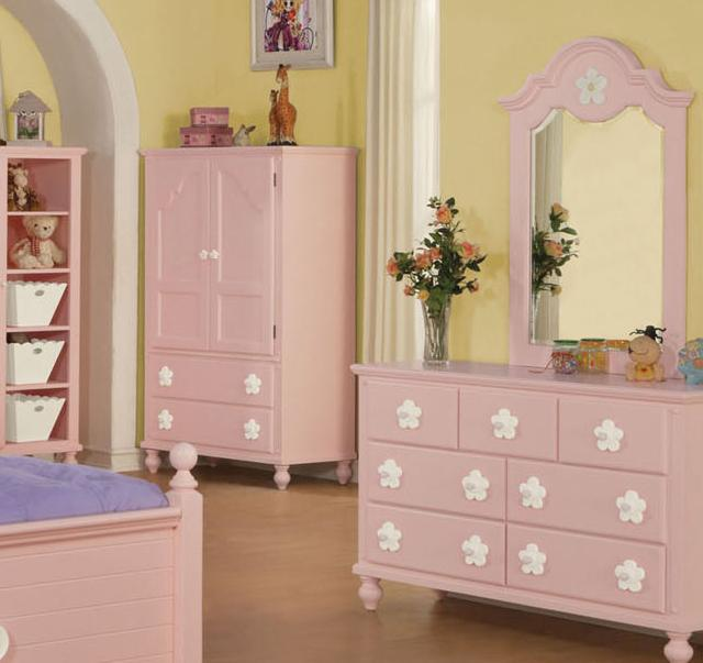 Acme Furniture Floresville Pink/Wh Flower Tv Armoire - Item Number: 00743