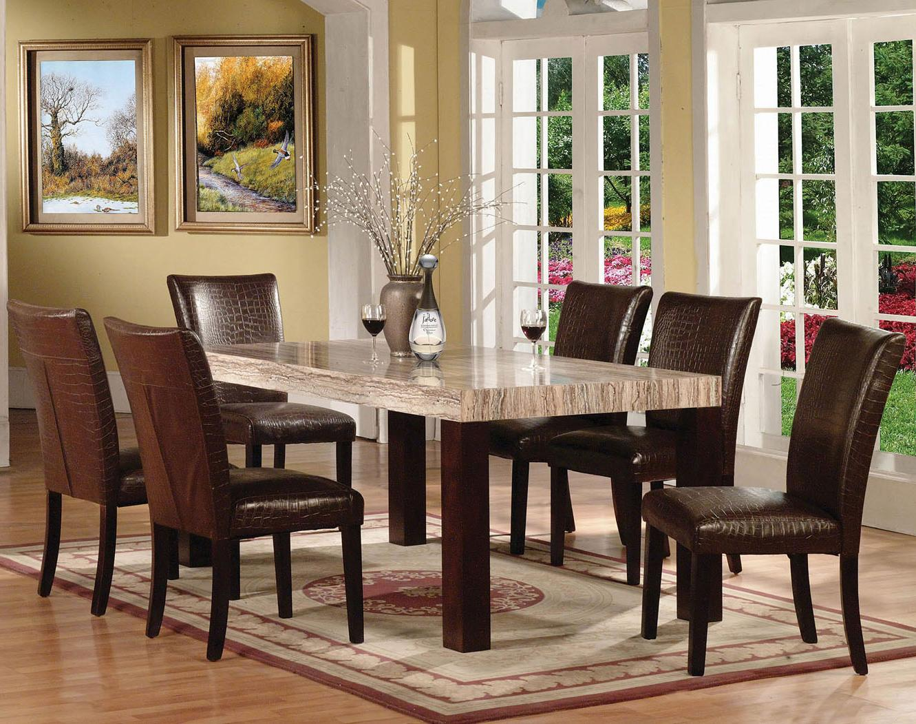 Acme Furniture Fraser 7 Piece Table & Chair Set - Item Number: 70130SET