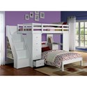 Acme Furniture Freya Twin Loft Bed and Twin Bed - Item Number: 37145+37152