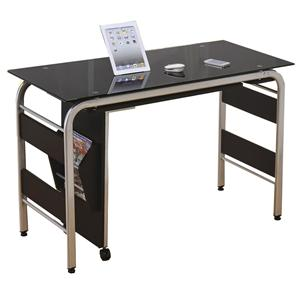Acme Furniture Garion Computer Desk W/Bk Tempered Gl