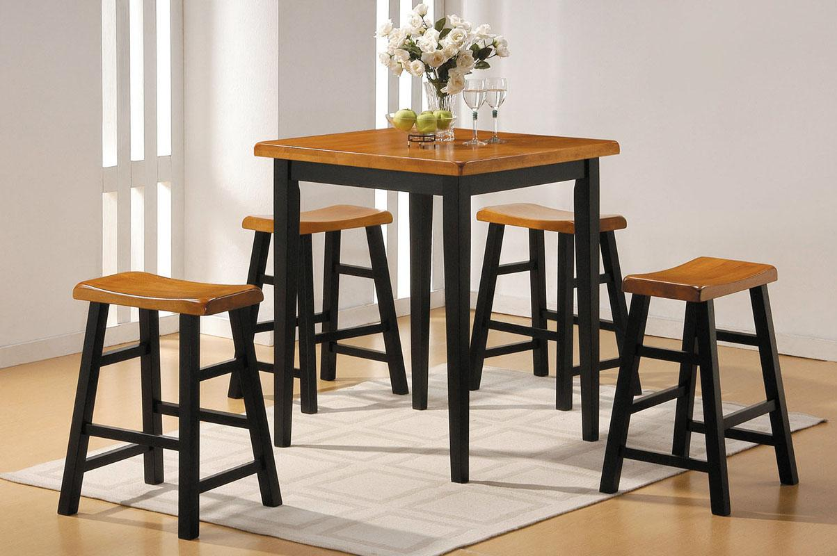 Acme Furniture Gaucho 5-Piece Counter Height Dining Set - Item Number: 07285B