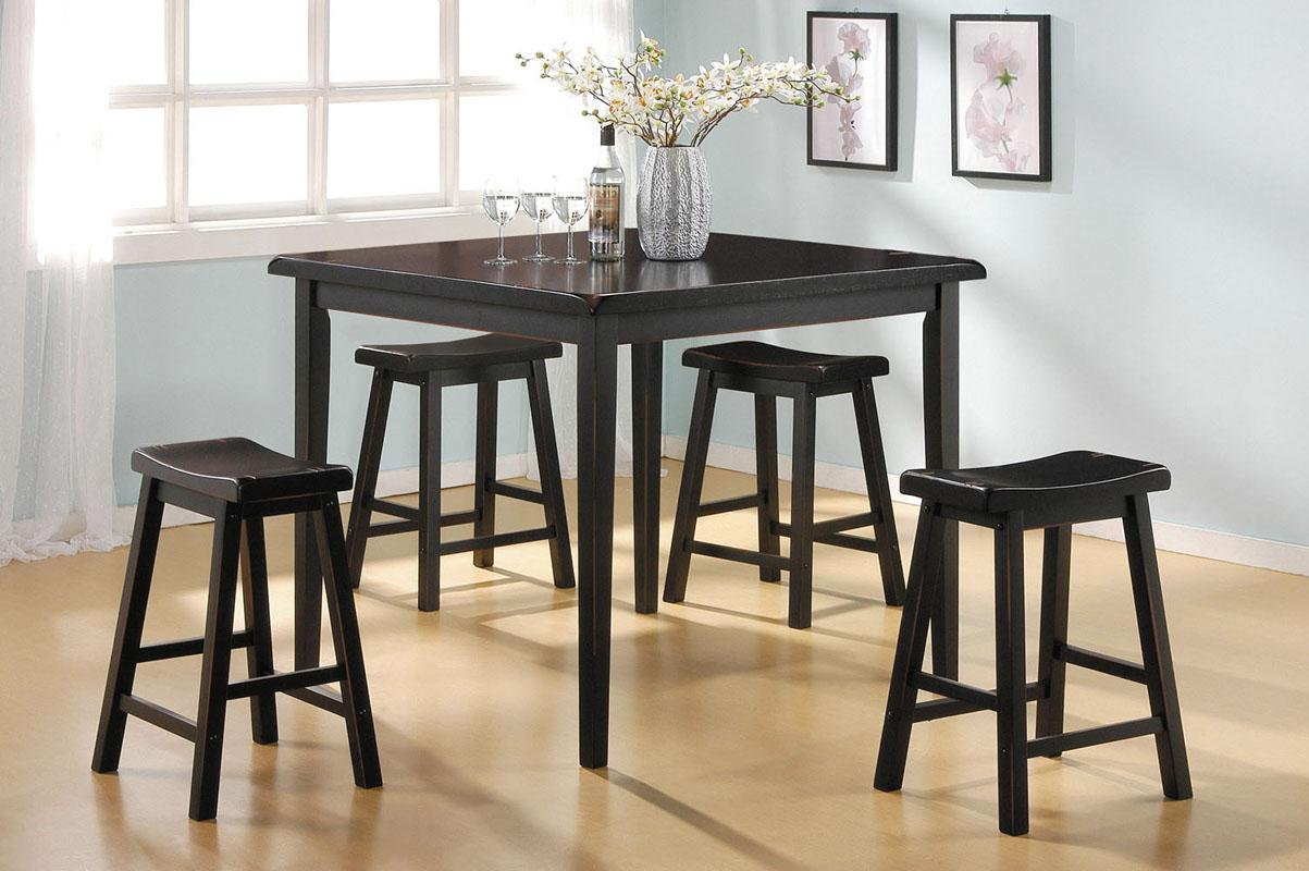Acme Furniture Gaucho 5-Piece Counter Height Dining Set - Item Number: 07288