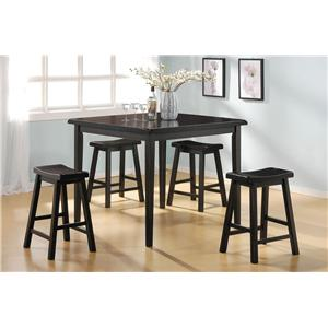 Acme Furniture Gaucho 5-Piece Counter Height Dining Set
