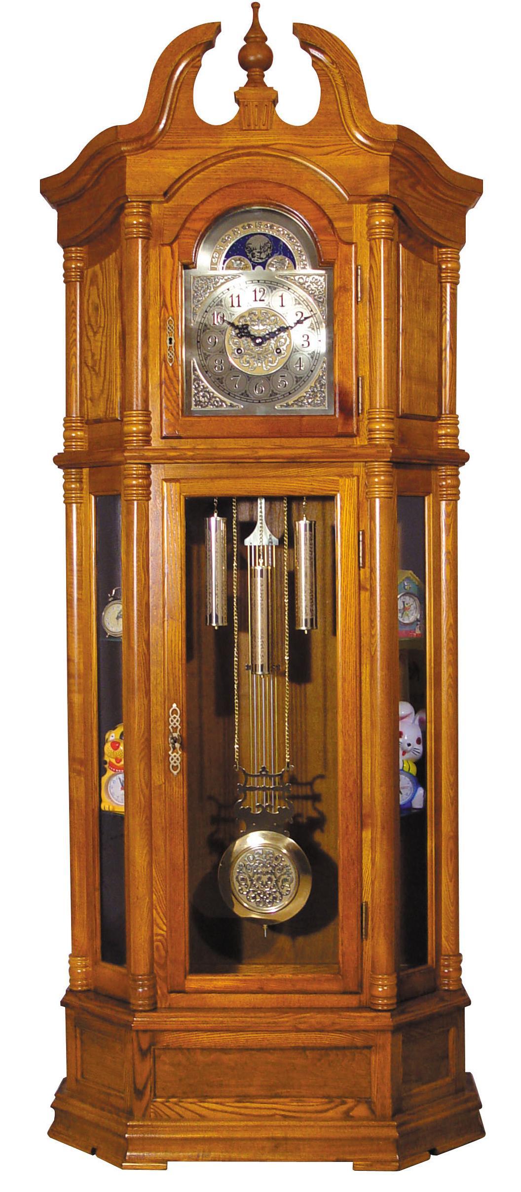 Acme Furniture Grandfather Clocks Oak Finish Grandfather Clock - Item Number: 01410
