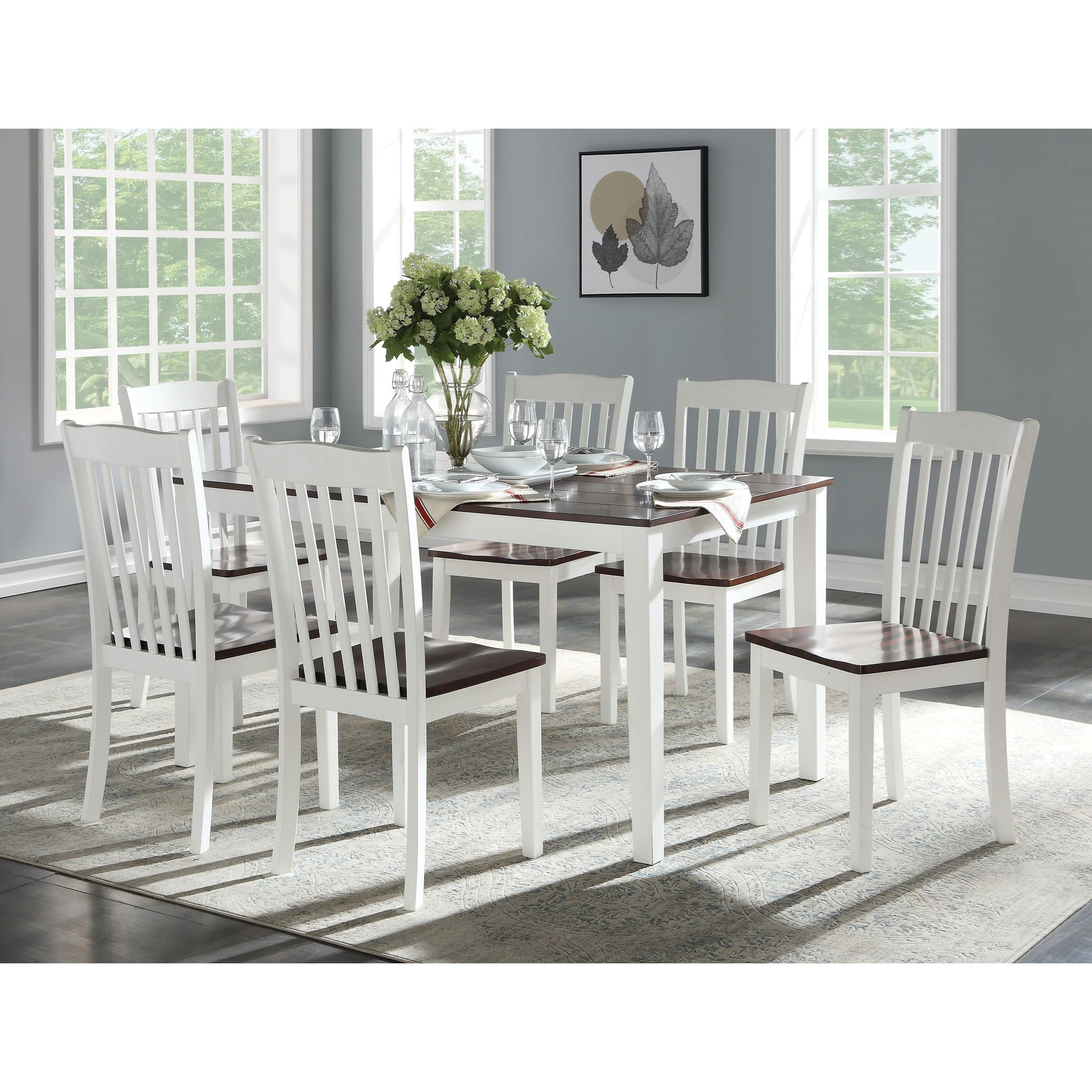 Green Leigh 7Pc Pk Dining Set by Acme Furniture at Dream Home Interiors