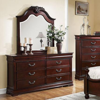 Acme Furniture Gwyneth Dresser & Mirror Set - Item Number: 21865+4