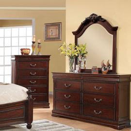 Acme Furniture Gwyneth Dresser & Mirror Set - Item Number: 21865+84
