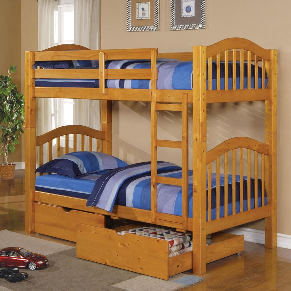 Acme Furniture Heartland  Bunkbed & Drawers - Item Number: 02359+02362A