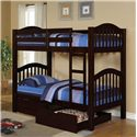 Acme Furniture Heartland  Bunkbed & Drawers - Item Number: 02554+02557