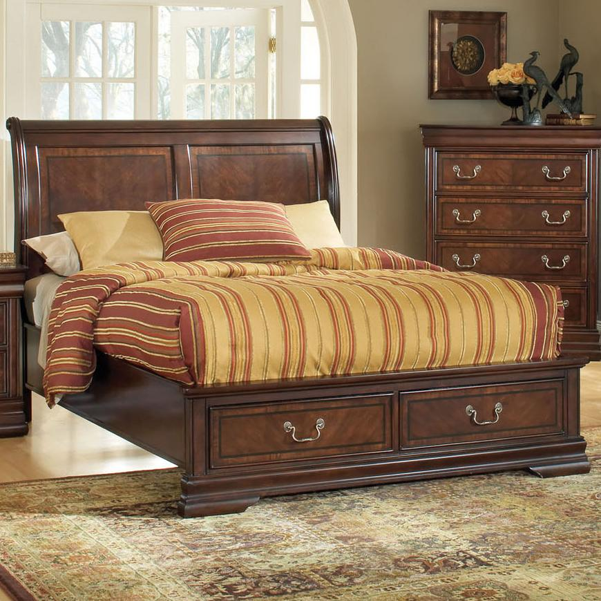 Acme Furniture Hennessy California King Storage Bed  - Item Number: 19444CK-HB+19444CK-FB+19444CKRL