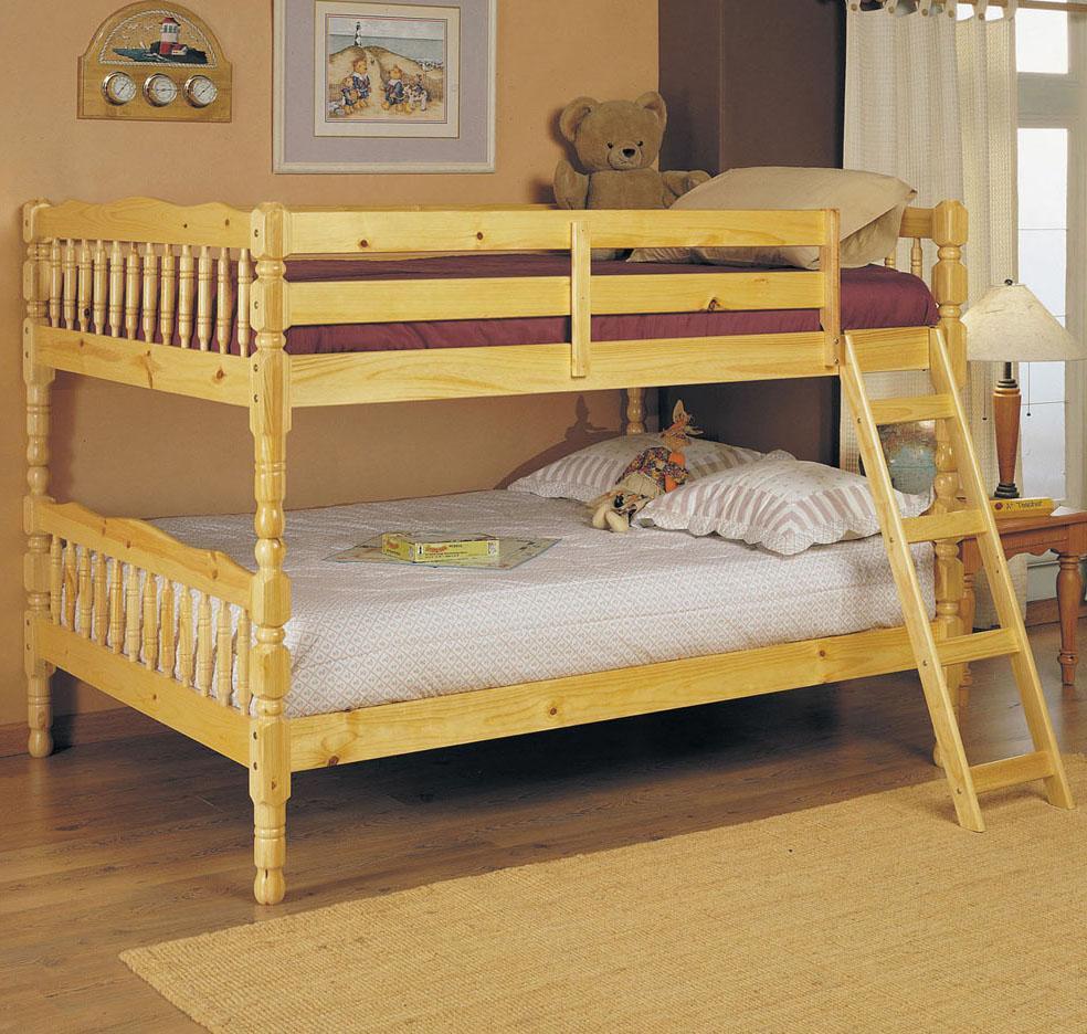 Acme Furniture Homestead  Natural Full Size Bunk Bed - Item Number: 02290 SET