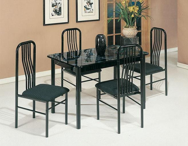 Acme Furniture Hudson 5-Piece Dinette Set - Item Number: 02406/7BK