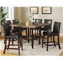 Acme Furniture Idris Counter Height Parsons Style Chair - Shown with Counter Height Pedestal Table