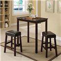 Acme Furniture Idris 3-Piece Counter Height Dining Set - Item Number: 70540
