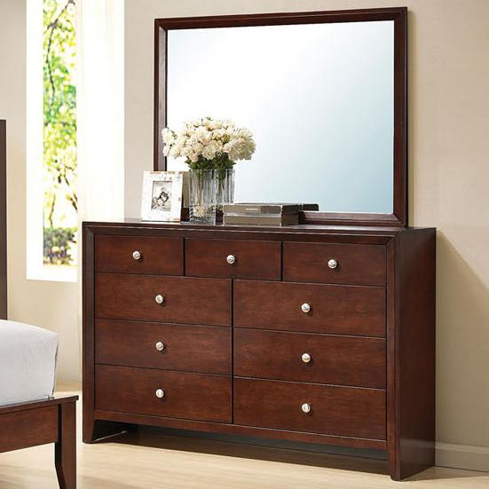 Acme Furniture Ilana Dresser with Mirror - Item Number: 20405+4