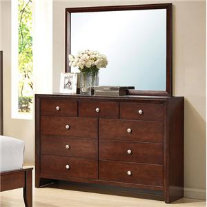Acme Furniture Ilana Dresser with Mirror
