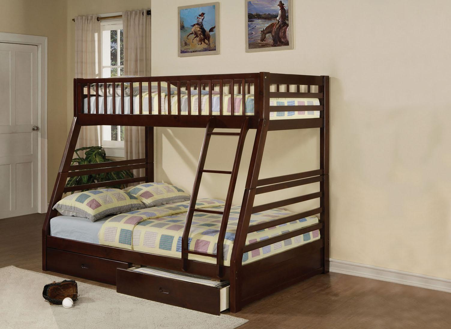 Acme Furniture Jason Twin Over Full Bunkbed - Item Number: 02020