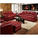 Acme Furniture Jeremy Stationary Casual Sofa - Shown with Loveseat and Ottoman