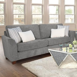 Acme Furniture Karenza 55155 Contemporary Sofa W Pillows Nassau Furniture And Mattress Sofas
