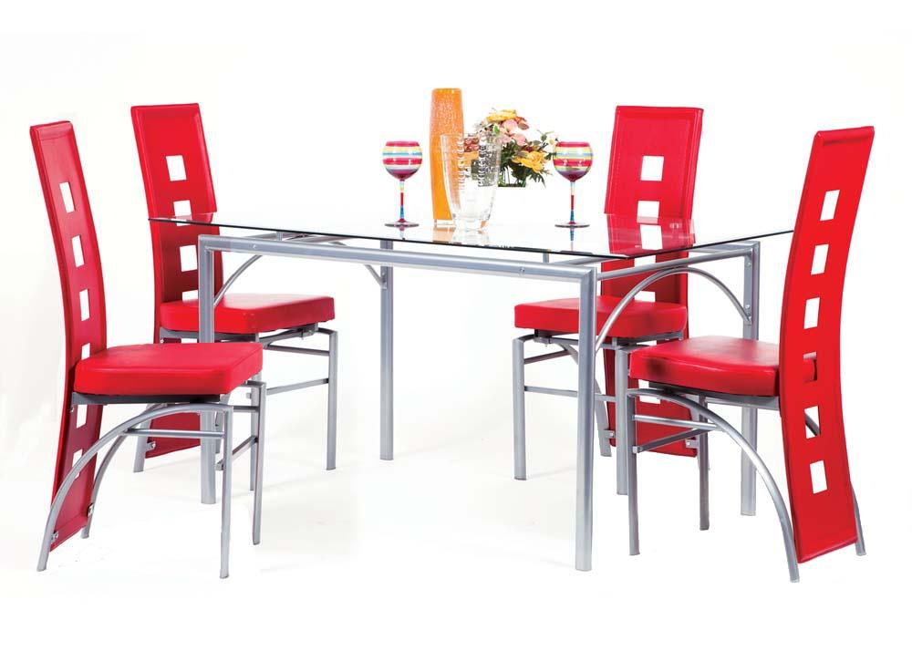 Acme Furniture Kathie Five Piece Dining Set - Item Number: 70740+4x70744