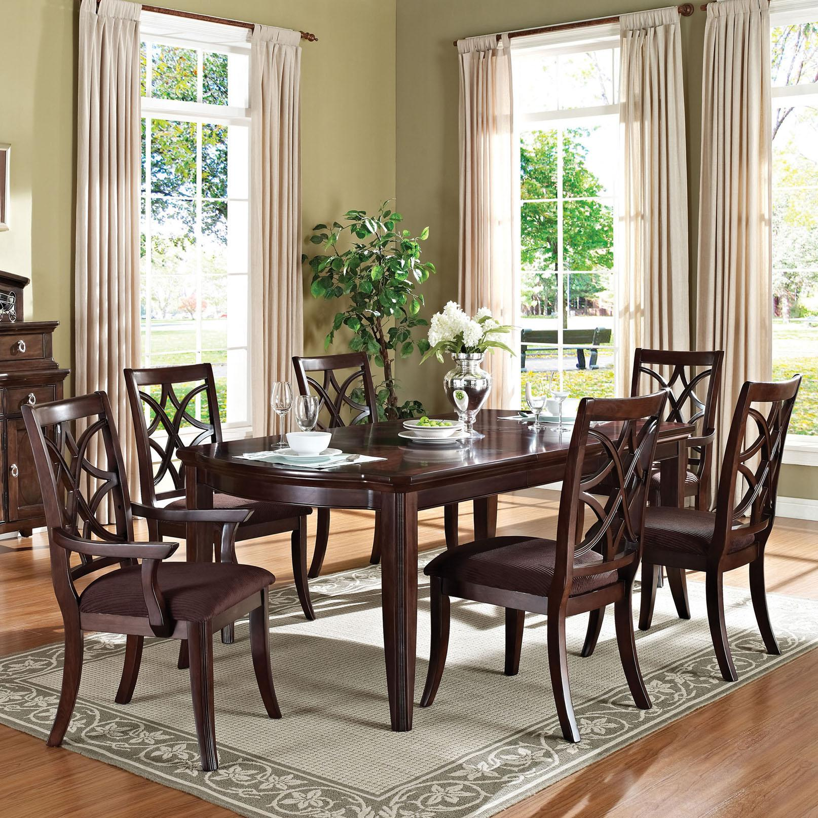 Acme Furniture Keenan Transitional Dining Table and Chair Set - Item Number: 60255+60257+60258