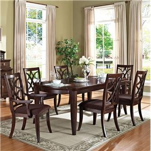 Acme Furniture Keenan Transitional Dining Table and Chair Set