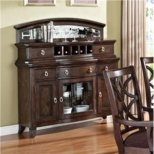 Acme Furniture Keenan Server with Wine Rack