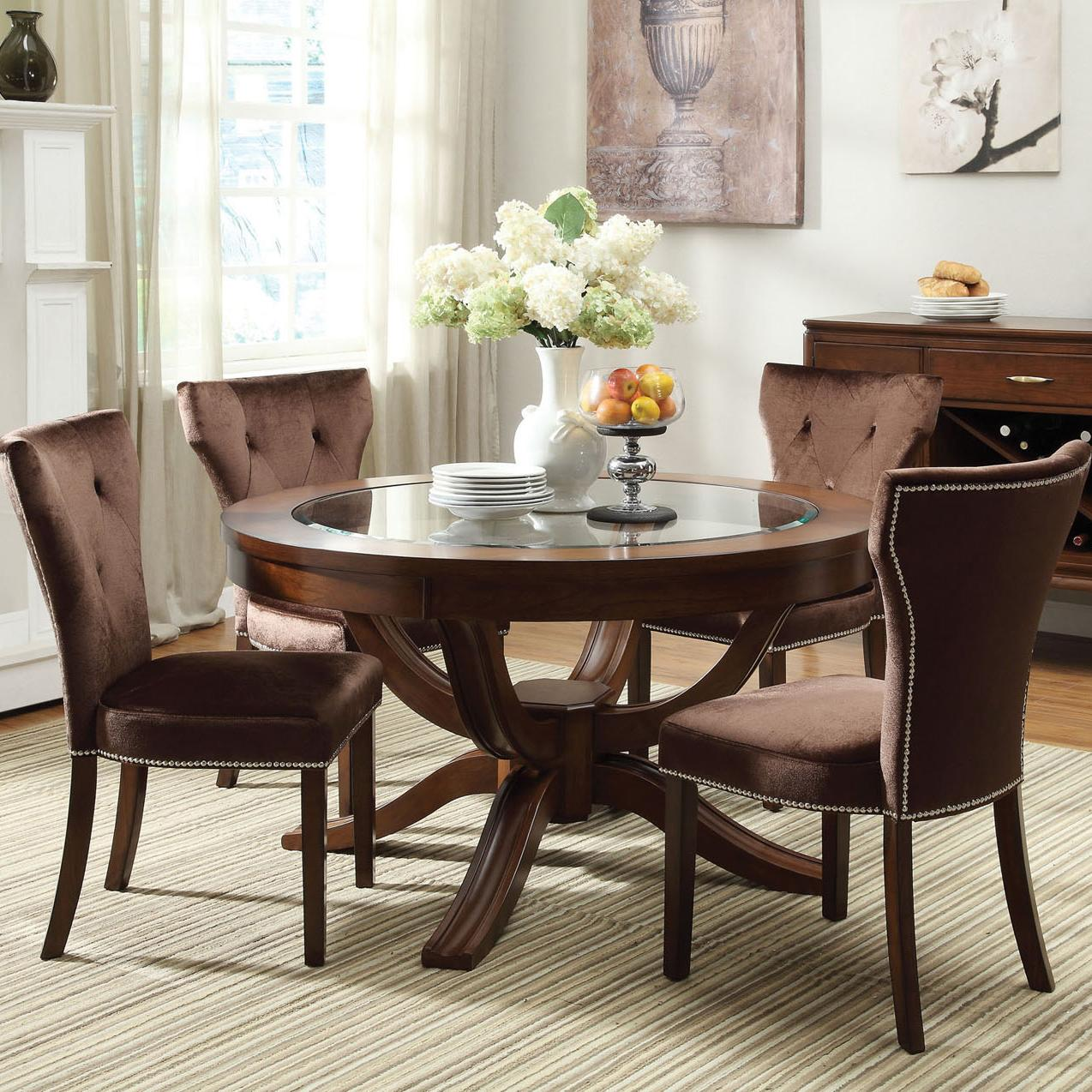 Acme Furniture Kingston 5-Piece Dining Table and Chair Set - Item Number: 60022+60024