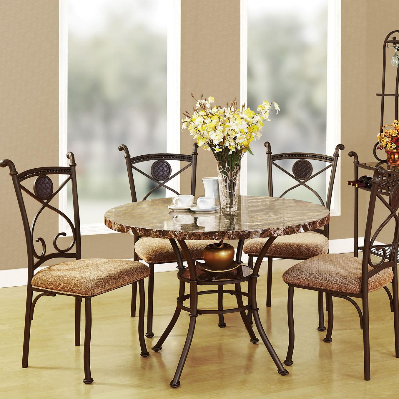 Acme Furniture Kleef 5-Piece Dining Table and Chair Set - Item Number 70555 & Acme Furniture Kleef 70555 Casual 5-Piece Dining Set | Del Sol ...