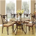 Acme Furniture Kleef 5-Piece Dining Table and Chair Set - Item Number: 70555